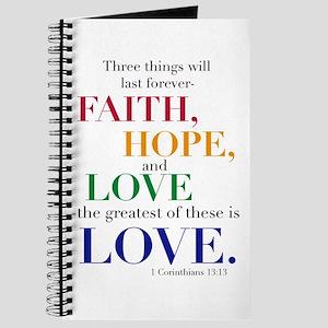 Faith, Hope, Love, The Greatest of these is Love J