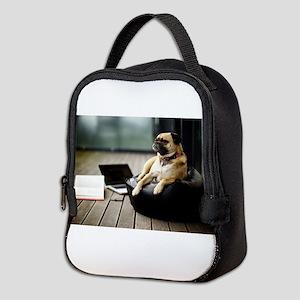 The sophisticated pug! Neoprene Lunch Bag