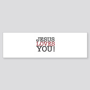 Jesus loves You! Bumper Sticker