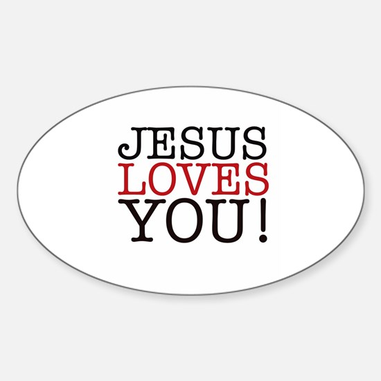 Jesus loves You! Decal