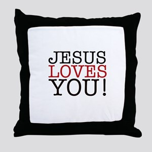 Jesus loves You! Throw Pillow