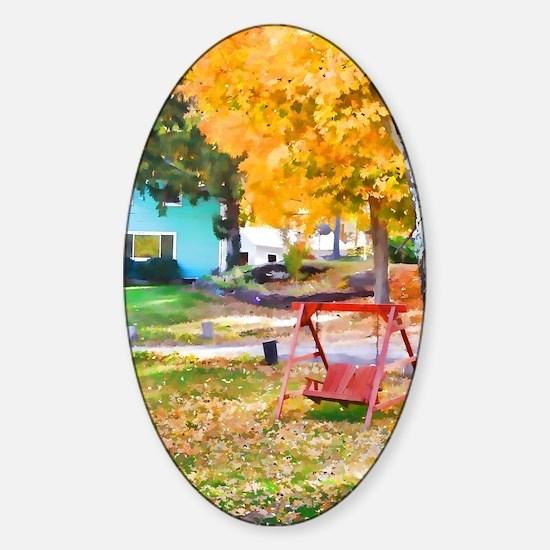 Unique My favorite color Sticker (Oval)