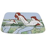 Art Nouveau: Bathing Nymphs Bathmat