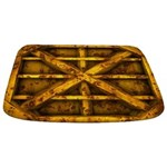 Rusty Shipping Container - yellow Bathmat