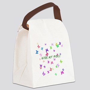Butterfly Kiss my Port Canvas Lunch Bag