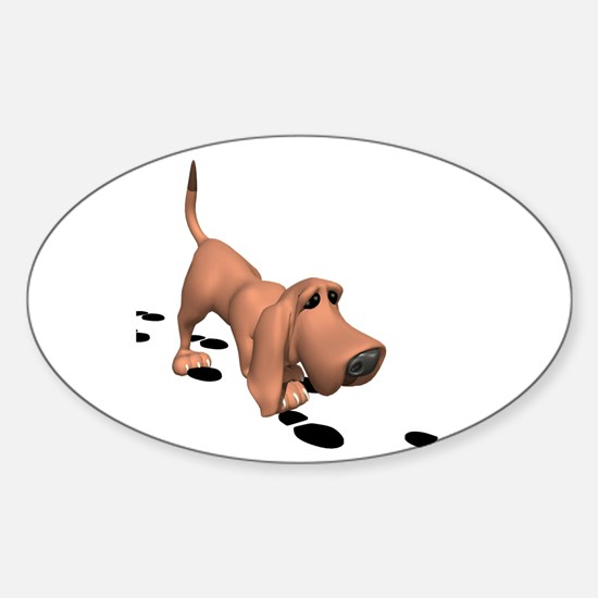 Bloodhound Oval Decal