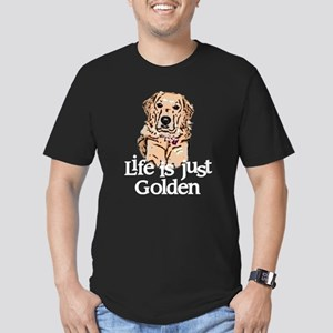 Life is Just Golden Men's Fitted T-Shirt (dark)