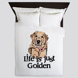 Life is Just Golden Queen Duvet