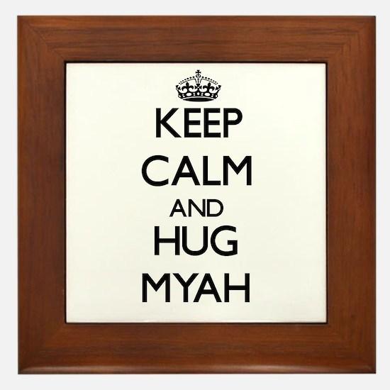 Keep Calm and HUG Myah Framed Tile