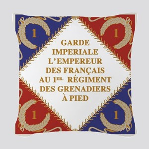 Flag of Napoleon's Guard Woven Throw Pillow