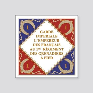 "Flag of Napoleon's Guard Square Sticker 3"" x 3"""