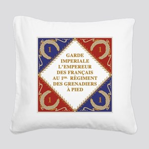 Flag of Napoleon's Guard Square Canvas Pillow