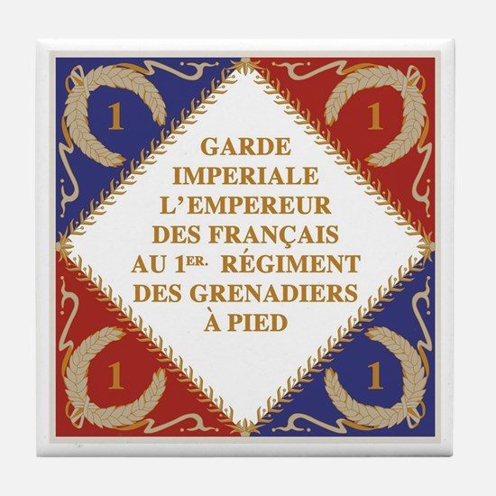 Flag of Napoleon's Guard Tile Coaster