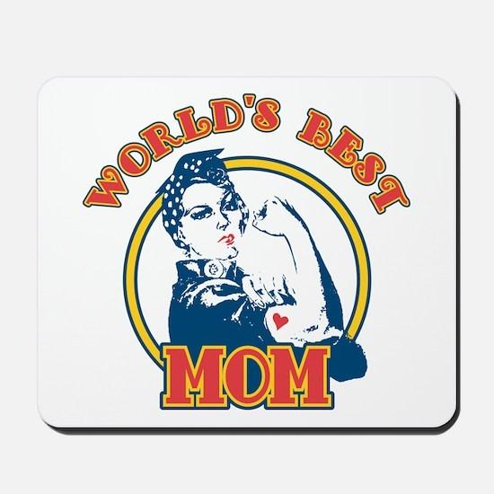 Rosie Riveter Best Mom Mousepad