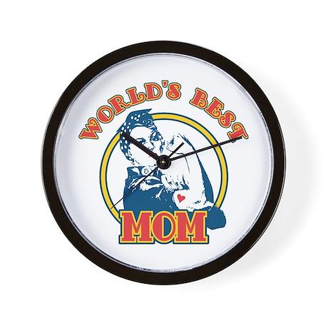 Rosie Riveter Best Mom Wall Clock