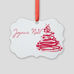 Joyeux Noël in Red Ornament