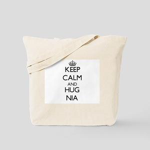 Keep Calm and HUG Nia Tote Bag