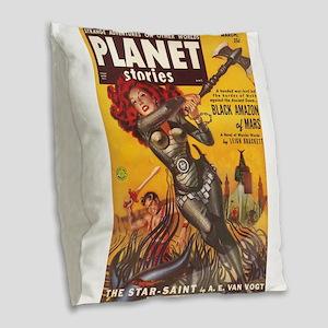 PLA 1951 March Burlap Throw Pillow