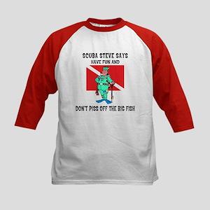 SCUBA Steve Says Kids Baseball Jersey