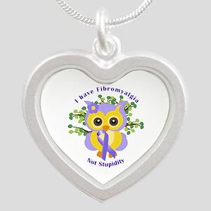 I Have Fibromyalgia Silver Heart Necklace
