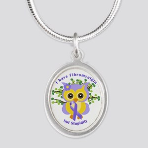 I Have Fibromyalgia Silver Oval Necklace