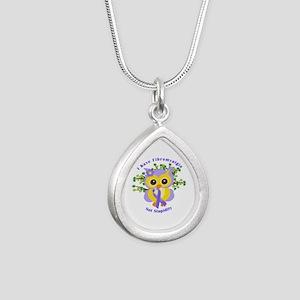 I Have Fibromyalgia Silver Teardrop Necklace