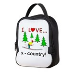 I Love X Country Neoprene Lunch Bag