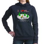 I Love X Country Hooded Sweatshirt