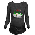 I Love X Country Long Sleeve Maternity T-Shirt