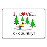 I Love X Country Banner