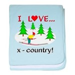 I Love X Country baby blanket