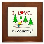 I Love X Country Framed Tile