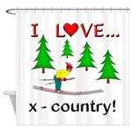 I Love X Country Shower Curtain