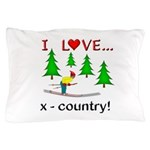 I Love X Country Pillow Case