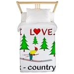 I Love X Country Twin Duvet