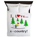 I Love X Country Queen Duvet