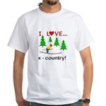 I Love X Country White T-Shirt
