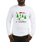 I Love X Country Long Sleeve T-Shirt