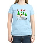 I Love X Country Women's Light T-Shirt