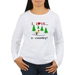 I Love X Country Women's Long Sleeve T-Shirt