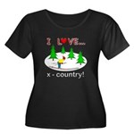 I Love X Country Women's Plus Size Scoop Neck Dark