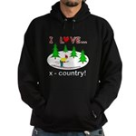 I Love X Country Hoodie (dark)