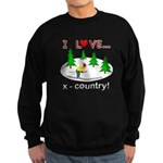 I Love X Country Sweatshirt (dark)