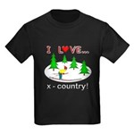 I Love X Country Kids Dark T-Shirt
