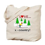 I Love X Country Tote Bag