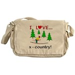 I Love X Country Messenger Bag