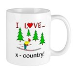 I Love X Country Mug