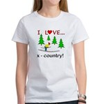 I Love X Country Women's T-Shirt