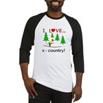 I Love X Country Baseball Jersey