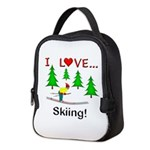I Love Skiing Neoprene Lunch Bag